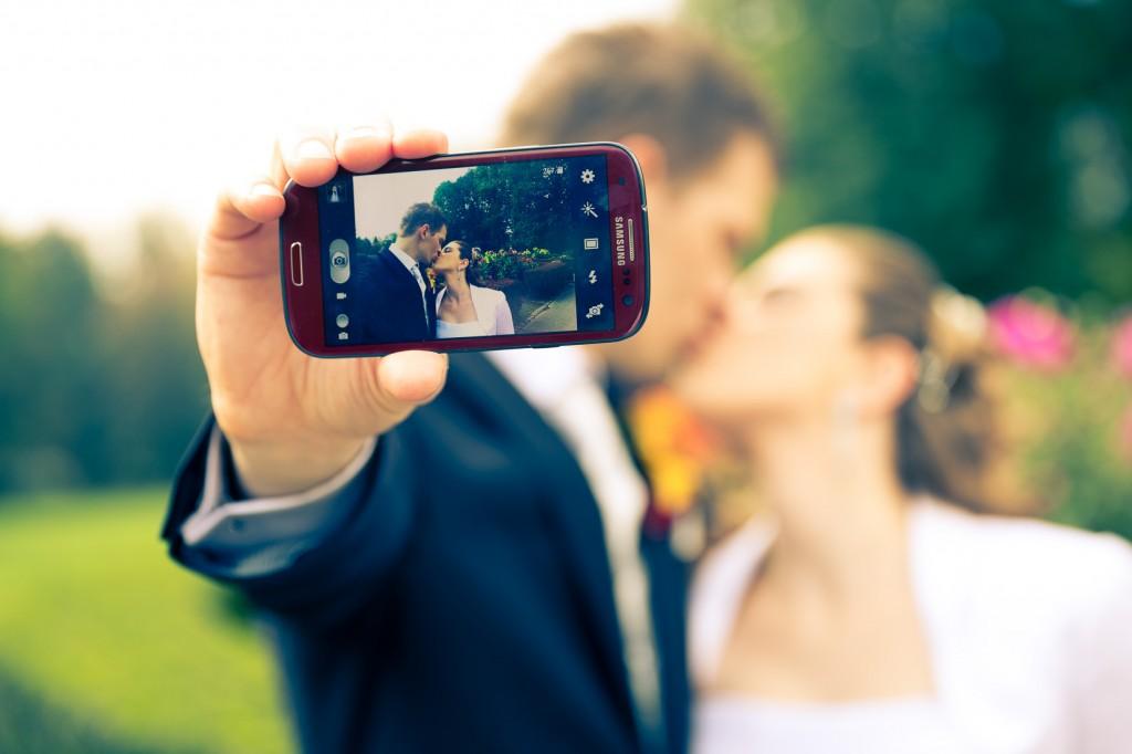 Hochzeits-Selfie im Europapark Klagenfurt