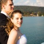 Paarfotos Sabine und Rene am Wörthersee Schiff