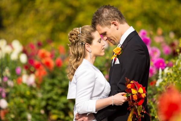 Herbst Hochzeit im Blumengarten des Europapark, Klagenfurt am Wörthersee
