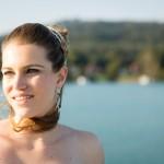 Braut Portrait Sabine am Wörthersee Schiff